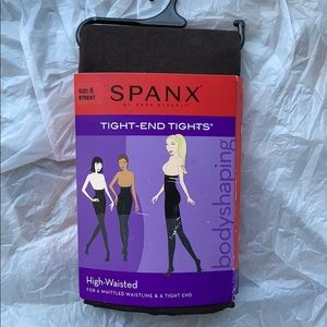 New Spanx tight-end tights black body shaping $38